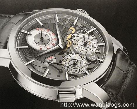 Traditionnelle传袭系列双重芯率万年历腕表