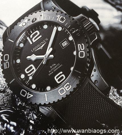 浪琴康卡斯系列黑色潜水员-以光调时腕表鉴赏-腕表公社