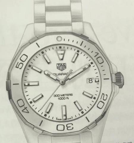 昆仑海军上将镂空腕表-泰格豪雅 竟潜女士全陶瓷腕表