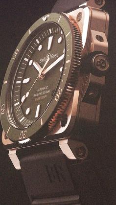 BELL&RoSS柏莱士BR03-92DIVER绿色青铜版潜水腕表-腕表公社