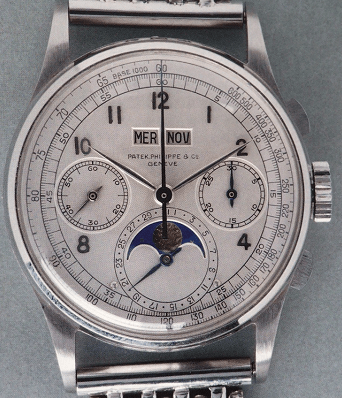 百达翡丽首款量产的万年历腕表