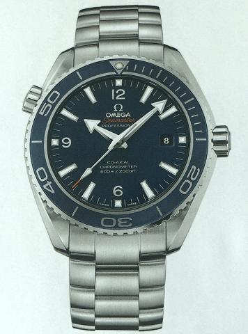 欧米茄海马600米液态金属腕表