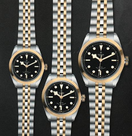 帝舵碧湾型32、36及41黄金钢款腕表