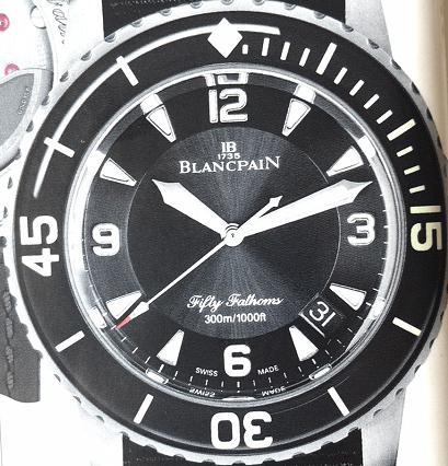 宝珀五十噚钛金属腕表-宇舶恒宝黄色蓝宝石腕表