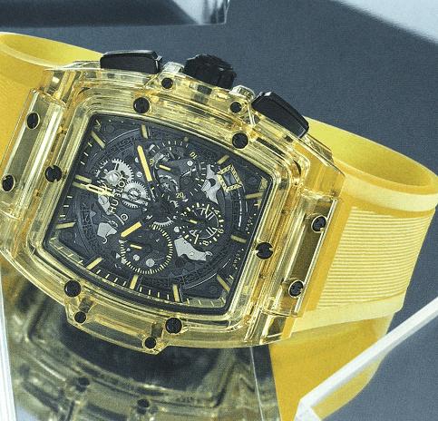 宝珀五十噚钛金属腕表-宇舶恒宝黄色蓝宝石腕表-腕表公社
