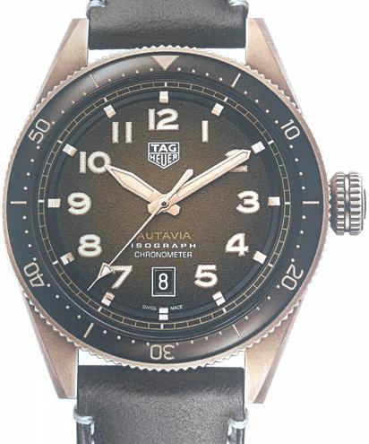泰格豪雅2019年新款Autavia系列腕表青铜款-腕表公社