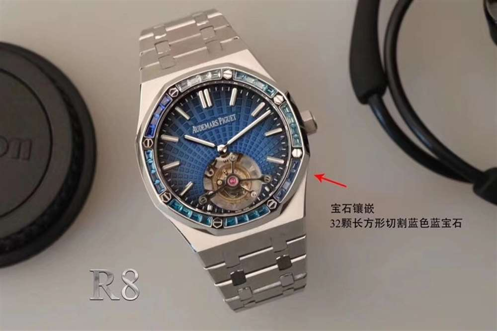 新品首发:R8厂爱彼皇家橡树离岸型超薄陀飞轮复刻表-腕表公社