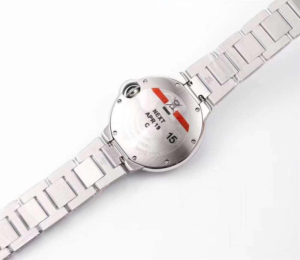 V6厂卡地亚蓝气球33毫米女士机械WE902074复刻表评测