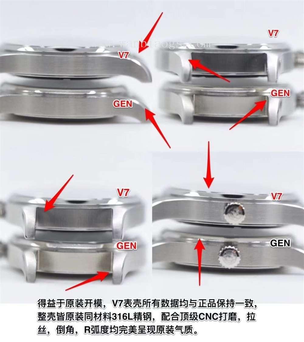 """V7厂万国马克18腕表""""真芯""""对比评测"""