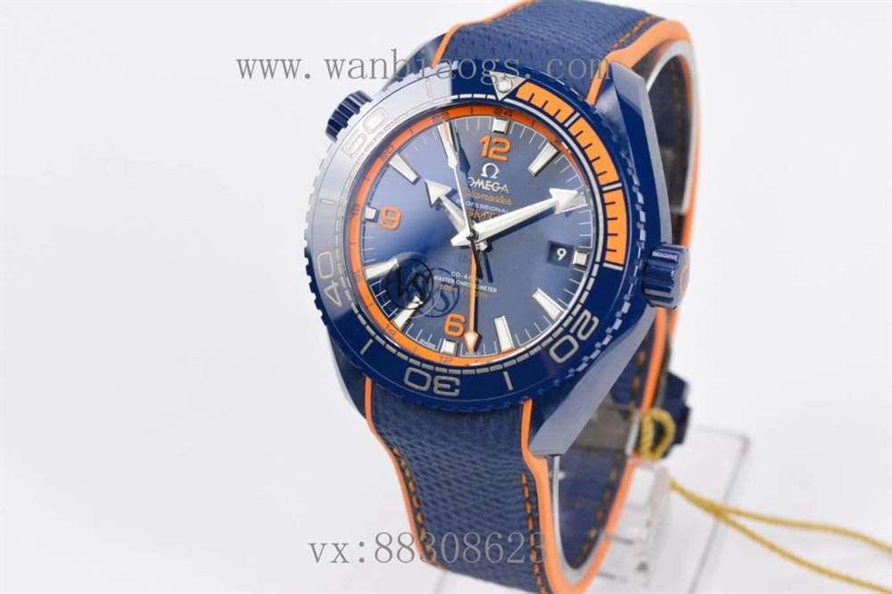 VS厂欧米茄海洋宇宙碧海之蓝-一体蓝陶瓷腕表