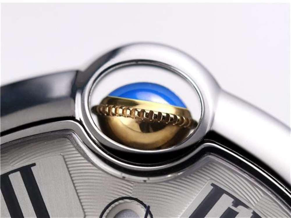 深度了解V9厂卡地亚包金蓝气球腕表