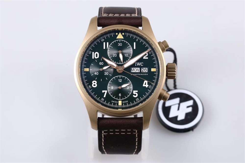 ZF厂万国青铜计时IW387902测评-用不掉色的青铜腕表