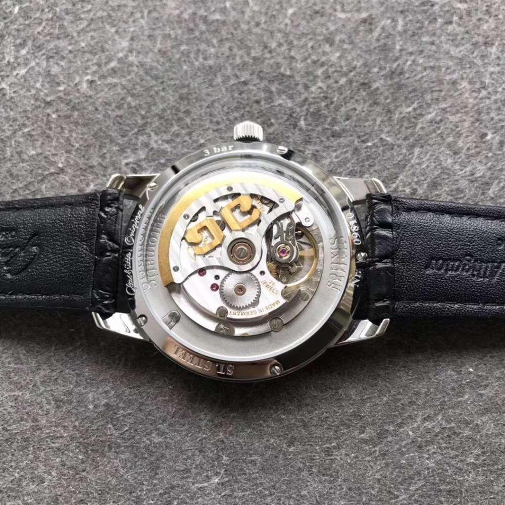 YL厂格拉苏蒂复古绿60年代复刻表做工评测-德系复古手表