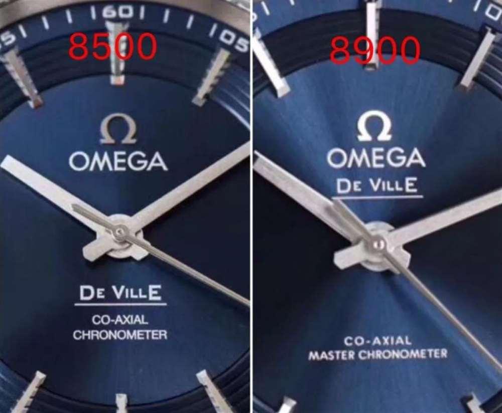 VS厂欧米茄明亮之蓝复刻表8900机芯对比8500机芯有什么不同?