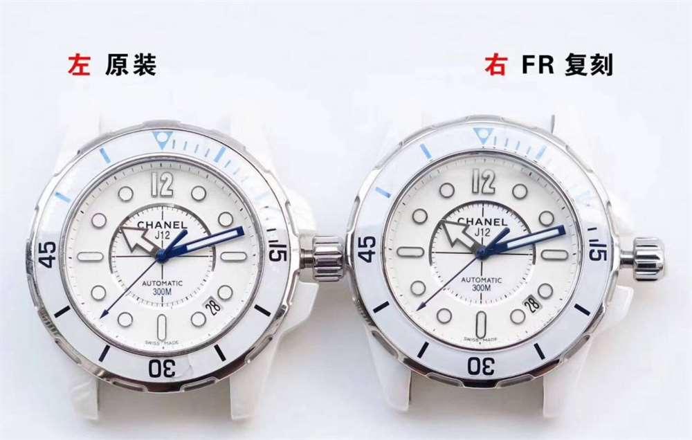 """FR厂香奈儿J12系列复刻表H2560对比评测-倾""""芯""""机械"""