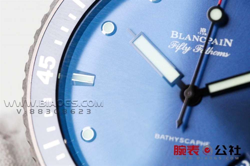 GF厂宝珀五十噚「43.6mm蓝盘」复刻表做工评测-实拍展示