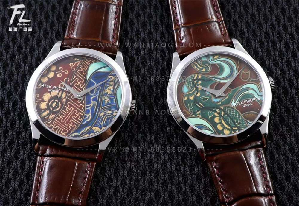 FL珐琅厂百达翡丽「真珐琅工艺表盘」5077系列不丹的传统染织文化