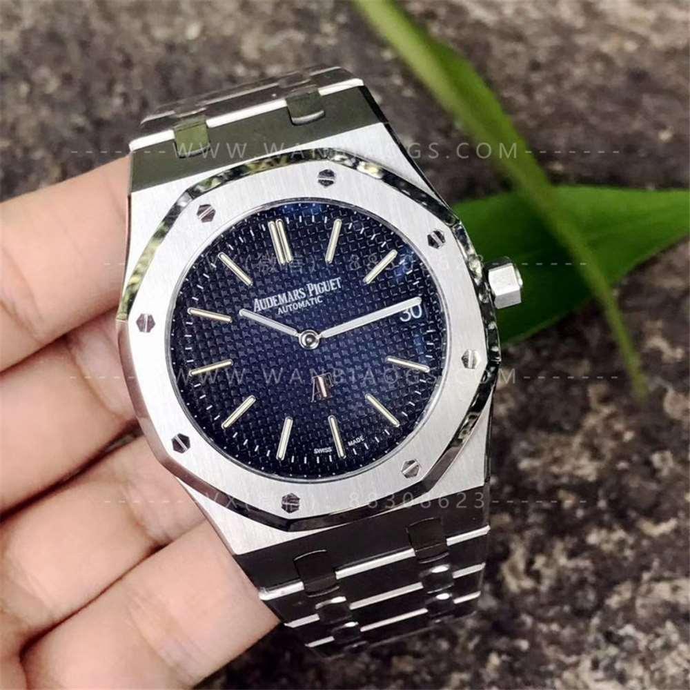 XF厂爱彼15202超薄系列腕表-烟熏蓝定制版首发评测