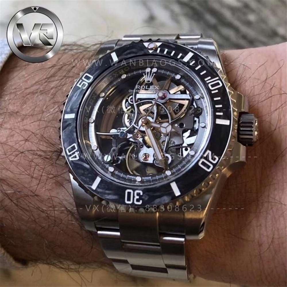 VR厂魔改劳力士「全镂空潜航者」劳力士中的RM027腕表