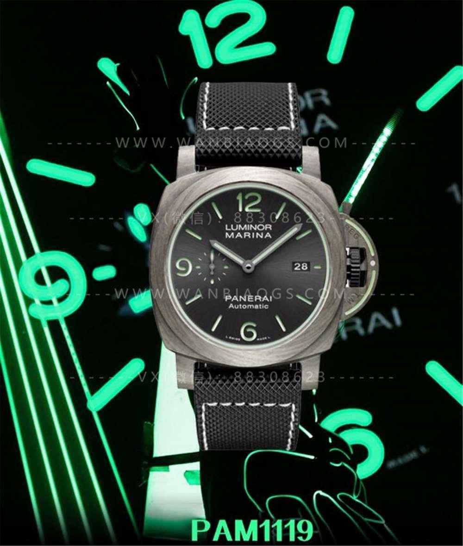 VS厂沛纳海1119玄武岩纤维腕表评测-致敬经典传奇夜光