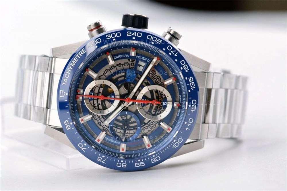 XF厂泰格豪雅卡莱拉系列-全新蓝面腕表做工评测