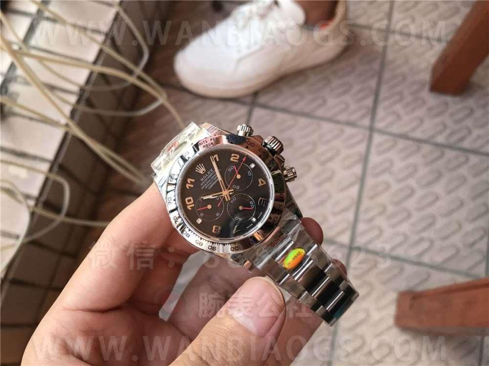 N厂劳力士4130迪通拿116509「黑盘红针」腕表做工评测-双十一现货实拍