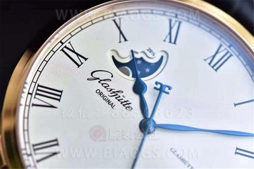 GF厂格拉苏蒂原创议员大日历月相腕表做工评测