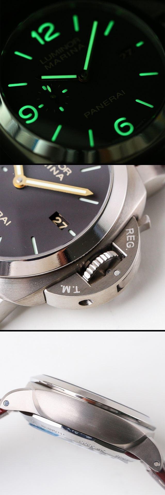 vs厂沛纳海PAM351钛金属自动上链机械腕表赏析