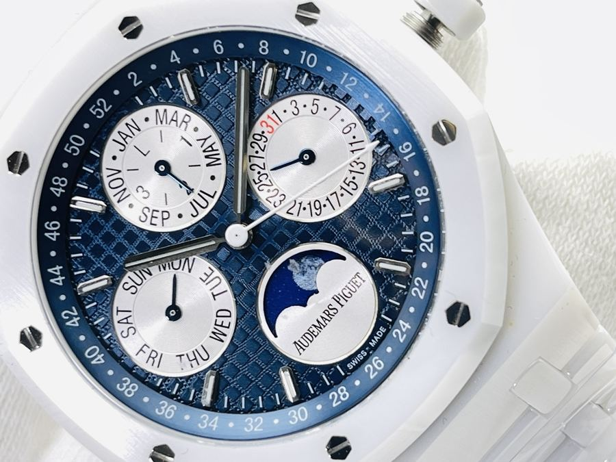 APS厂爱彼皇家橡树万年历白陶瓷腕表评测